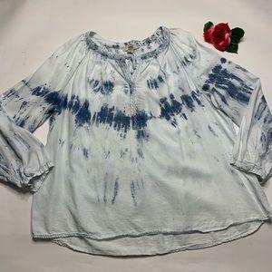 Vintage America Blues Womens XXL Blue Denim Blouse